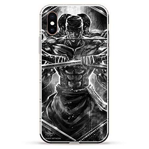 Iphone Silicon Protector (BEMAGIC iPhone XS Case,Flexible Slim Silicone TPU Protector Cover Soft Thin Gel Skin for Apple iPhone XS-Roronoa Zoro 4)