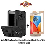 Like It Grab It Moto E4 Plus Orginal Kickstand (Dragon Shade) Back Cover With Premium 2.5D Curved Tempered Glass Combo Offer For Moto E4 Plus (Kickstand Combo) (Black - Gold)