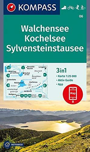 Preisvergleich Produktbild Walchensee, Kochelsee, Sylvensteinstausee: 3in1 Wanderkarte 1:25000 mit Aktiv Guide inklusive Karte zur offline Verwendung in der KOMPASS-App. ... Langlaufen. (KOMPASS-Wanderkarten, Band 6)