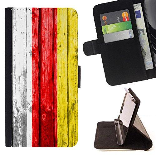FJCases Süd-Ossetien Holzmuster Flagge Tasche Brieftasche Hülle Schale Standfunktion Schutzhülle für Microsoft Lumia 650