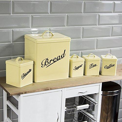 5-Teiliges Aufbewahrungsdosen-Set, Behälter, Creme von Chef Vida (Küche Kanister Chef)