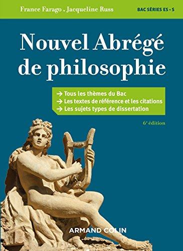 Nouvel abrg de philosophie - 6e d. - Bac sries ES et S