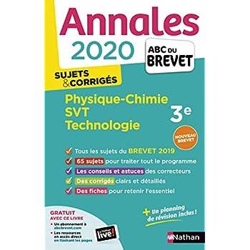 Annales ABC du Brevet 2020 Physique-Chimie-SVT-Techno