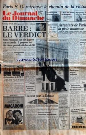 JOURNAL DU DIMANCHE (LE) [No 2044] du 09/02/1986 -...