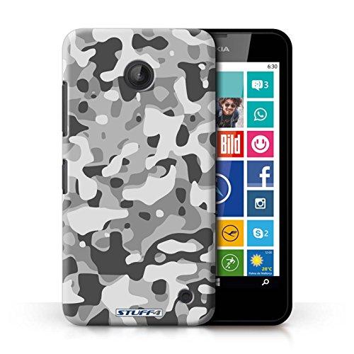 Kobalt® Imprimé Etui / Coque pour Nokia Lumia 635 / Blanc 2 conception / Série Armée/Camouflage Blanc 3