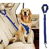 Docamor Verstellbarer Hunde-Sicherheitsgurt Hundegeschirr Pet Car Car Car Safety Leash Leash Hundeleine Hunde Katzen verstellbar von 45,7 bis 76,2 cm Nylon Stoff Material Nelke