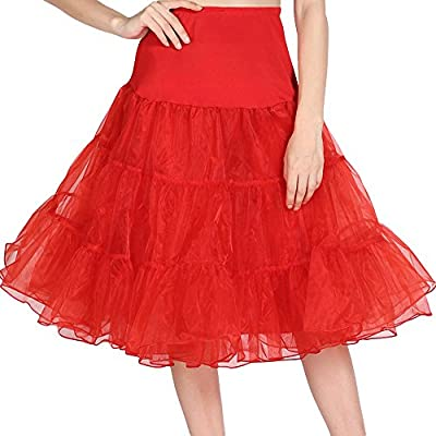 EA Selection Women's 1950s Vintage Rockabilly Swing Petticoat Underskirt Tutu Skirt