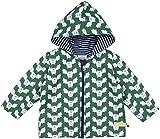 loud + proud Unisex Baby Regenmantel Wasserabweisende Jacke, Grün (Pine Pin), 68 (Herstellergröße: 62/68)