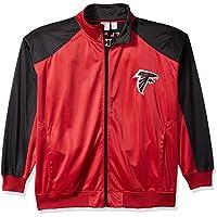 NFL Team Apparel Herren nfl768am Falken L/S Poly Tee geo-hex-car rot/blk-4X, Herren, NFL768AM
