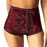 Butterme Femmes hiver casual doux stretchy taille haute cordon velours club court sexy dames pantalon chaud