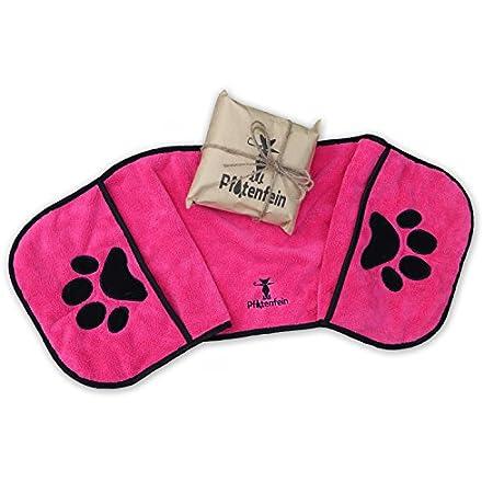 Hundehandtuch extra saugfähig – Hunde Handtuch Welpen – Hunde Zubehör – große kleine Hunde Badetuch