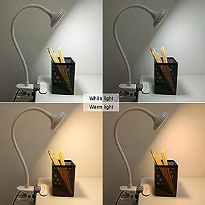 LEPOWER Led Clip on Light Reading Light for Bed, Desk and Headboard