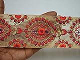Dekoband/Dekoband mit roter indischer Spitze, 7,6 cm,