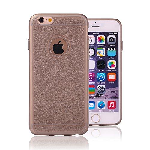 Glitzer Handy Hülle Schutzhülle Case Cover von ZhinkArts für Apple IPhone 5/5S Anthrazit