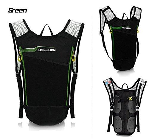 West Biking Mini 6L Ultralight Fahrrad Radfahren Rucksack Wandern Daypack Tasche Atmungsaktiv Racing mithalten Rucksäcke grün - grün