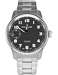 Revue Thommen Airspeed Aviator - Reloj analógico de caballero manual con correa de acero inoxidable plateada - sumergible a 100 metros