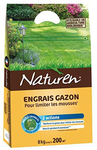 Naturen Engrais Gazon Anti Mousse Organique 200m