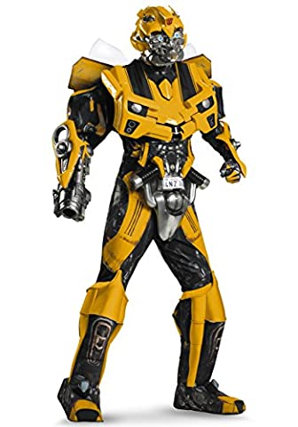D-guisez 198554 Transformers 3 Dark of the Moon Movie - Bumblebee 3D th--trale avec vacuform Costume - Jaune - X-Large - 42-46