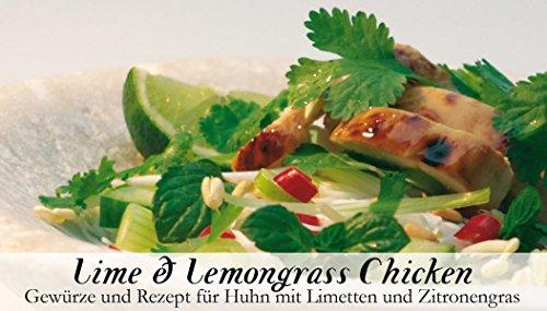 Lime & Lemongrass Chicken - 8 Gewürze Set für die asiatischen Hähnchenschenkel (55g) - in einer schönen Holzbox - mit Rezept und Einkaufsliste - Geschenkidee für Feinschmecker von Feuer & Glas