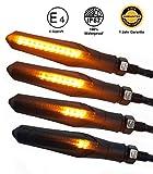 E - Mark LED Motorrad Blinker Lauflicht Sequentiell Laufeffekt Universal Quad ATV Roler Lauflichtblinker Super Optik und Schön Hell Wasserprüf IP67 ECE V5 E Prüfzeichen