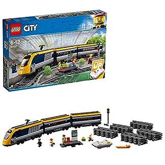 LEGO City – Tren De Pasajeros, Maqueta de Juguete Ferroviario con Control Remoto por Bluetooth, Incluye Minifigura del Maquinista y Varios Pasajeros (60197)