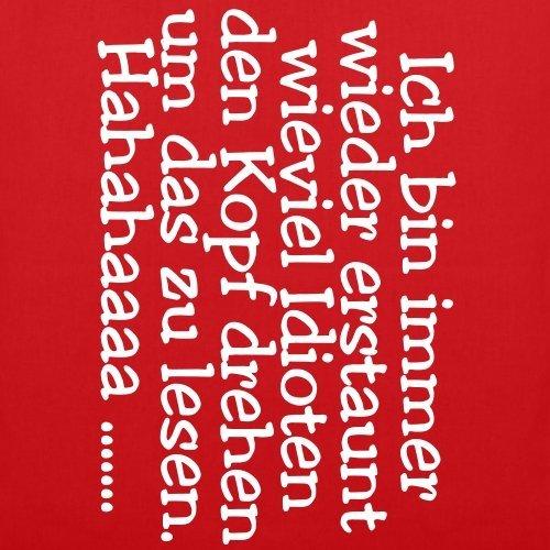 Spreadshirt Testa Girando Portavoce Sacchetto Di Tessuto Rosso