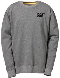 Caterpillar C1910752 marque Sweat-shirt col rond homme Gris XXL Cottoon travail