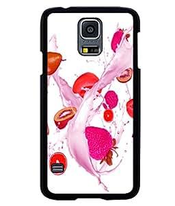 printtech Fruits Splash Back Case Cover for Samsung Galaxy S5 Mini::Samsung Galaxy S5 Mini G800F