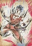 """Poster Dragon Ball """"Wanted"""" Goku SSB (Kaioken) - A3 (42x30 cm)"""