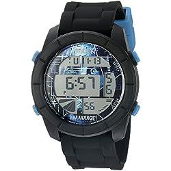 Steve Aoki Men's SA 2005 BK Digital Display Japanese Quartz Black Watch