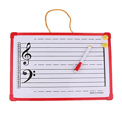 Homyl 1 Stück Music Notation Whiteboard Musiktheorie Anweisung Board 35x25cm - Trockenen Löschen-board Magnet