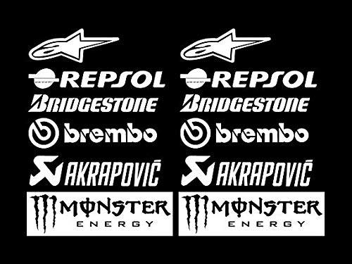 PEGATINAS SPONSORS MOTO GP R326 STICKERS AUFKLEBER DECALS AUTOCOLLANTS ADESIVI BRIDGESTONE MOTUL BLANCO