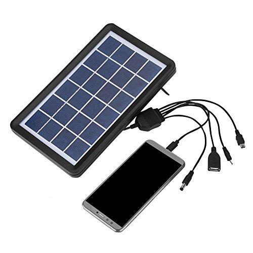Descripción: Esta placa solar ofrece un modo de carga más conveniente y le permite cargar 5 dispositivos de diferentes puertos simultáneamente. El alto nivel de resistencia al agua lo hace altamente impermeable. Además, el vidrio eficiente y transpsr...