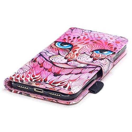 """MOONCASE iPhone X Coque, [Colorful Pattern] Wristbands avec Support Protection Étuis Case Card Holder Flip Cuir Housse pour iPhone X 5.8"""" Wind Chimes Unicorn"""