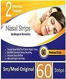 Moyen bandelettes nasales x60 | Dilatateur nasal anti ronflement pour aider à la respiration nasale | Ecarteur nasale et inhalateur nasal de qui soutient la congestion nasale | 100% garanti