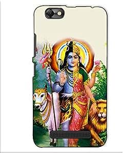 Fuson Designer Back Case Cover for Lenovo Vibe C :: Lenovo A2020 (Ardhangani Shiv Parvati theme)