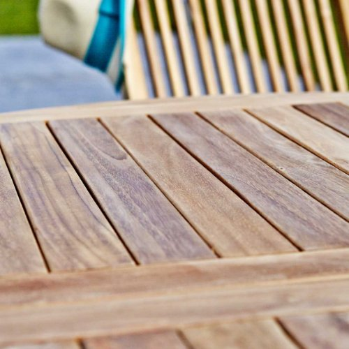 Salon de jardin en TECK BRUT QUALITE GRADE A 6/8 pers - Table ovale ...