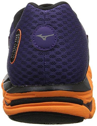 Mizuno Wave Inspire 11 Synthétique Chaussure de Course Purple-Grey-Orange