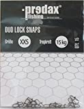 Predax Duo Lock Snap - 15 Snaps für Raubfischvorfächer, Einhänger für Kunstköder wie Wobbler, Jerkbaits, Gummifische, Blinker, Spinner, Größe/Tragkraft:Gr. XXS / 15kg
