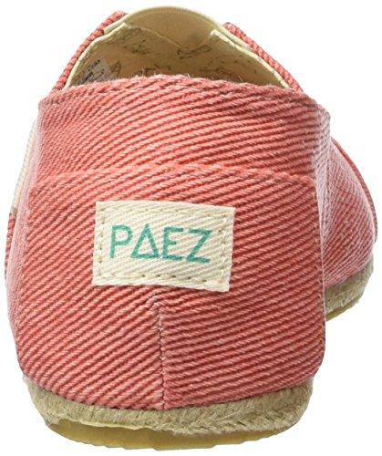 Paez Unisex-Erwachsene Original Raw Essentials Beach Espadrilles Orange (Peach 0044)