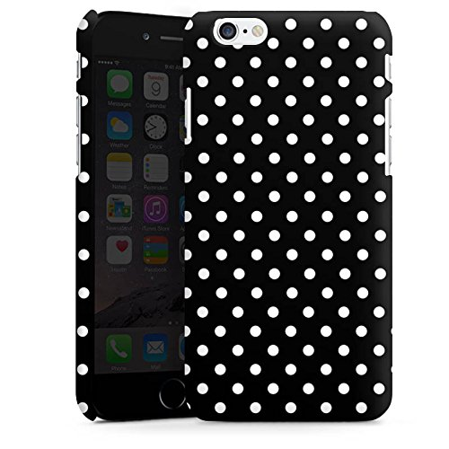 Apple iPhone 7 Silikon Hülle Case Schutzhülle Punkte Schwarz-Weiß Retro Premium Case matt