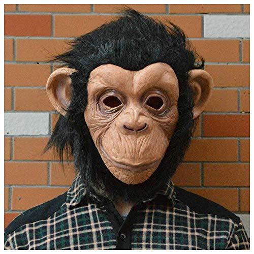YaPin Halloween Maske Vajra Orang-Utan Maske Big Ear AFFE Maske AFFE Kopf Abdeckung Tierkopf Abdeckung Sun Wukong Maske