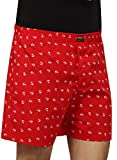 Magneto Men's Cotton Printed Boxers Red ...