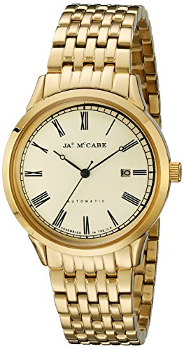 James McCabe Men's JM-1021-33 Heritage Analog Display Japanese Automatic Gold Watch