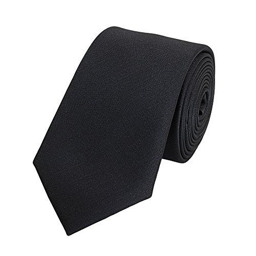 Slim-krawatte (Fabio Farini Schmale 6-cm Slim Krawatte verschiedenen Farben, geeignet für Arbeit, Hochzeit oder Ball, Schwarz)