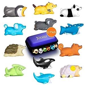 protectoras de animales: Aitsite Cable Bite Protector de Cable para iPhone Accessories (12-Paquete, erizo...