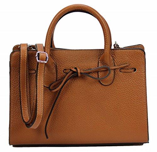 BZNA Bag Sue cognac Italy Leder Designer Ledertasche Umhängetasche Damen Handtasche Schultertasche Tasche Leder Neu