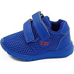 giardino d'oro Shoes scarpe primi passi bimbo bambino primaverili estive sportive da ginnastica snekers casual comode strappo colore blu numero 19
