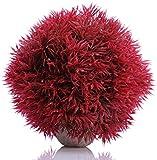 Jainsons Aquarium Decoration Grass Ball Dia:37 cm (Red)