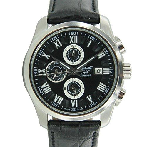 Ingersoll Herren Uhr Armbanduhr Automatik Benton Leder IN1220BK